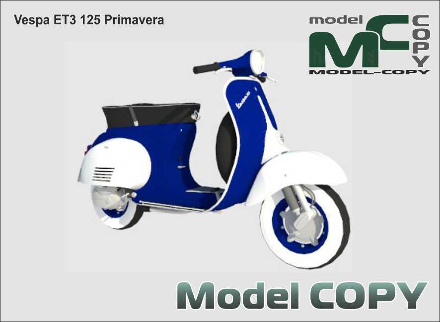 Vespa ET3 125 Primavera - 3D Model