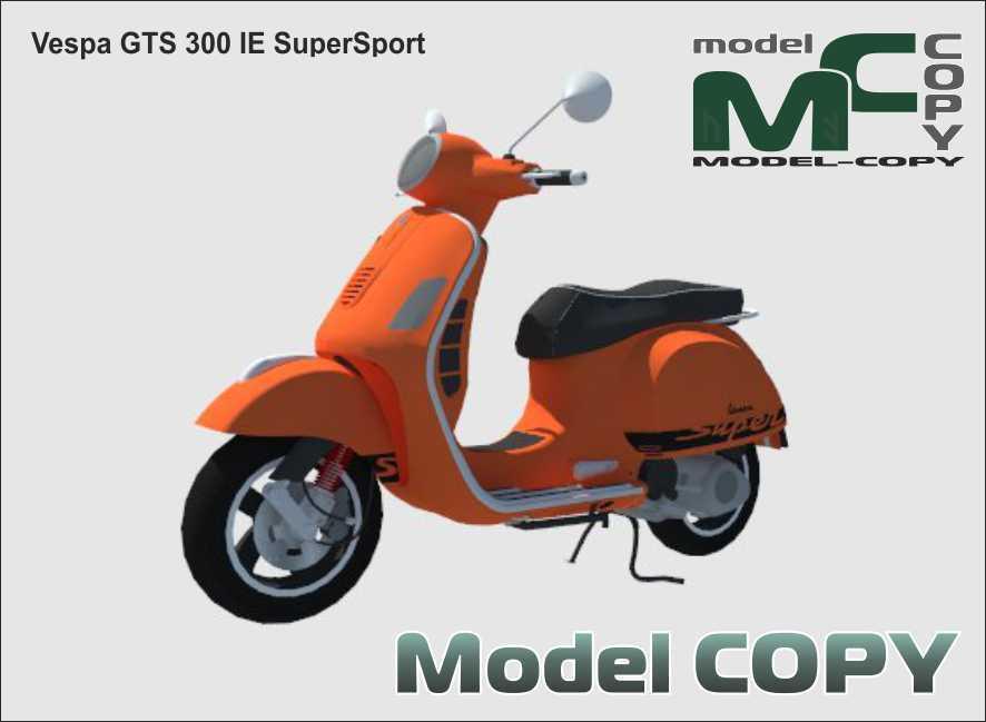 Vespa GTS 300 IE SuperSport - 3D Model