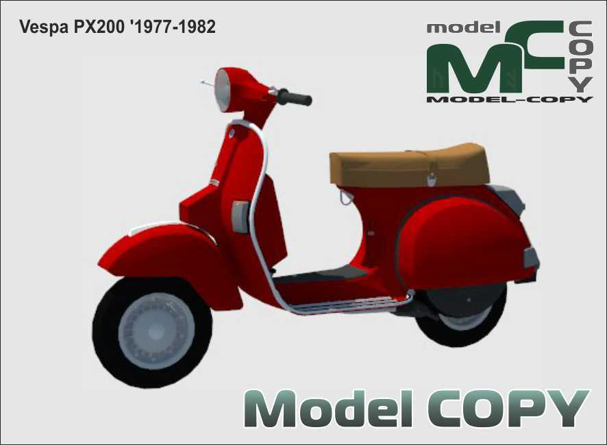 Vespa PX 200 '1977-1982 - 3D Model