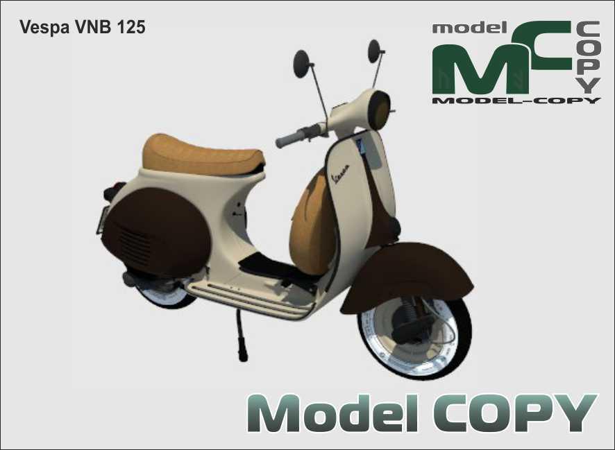 Vespa VNB 125 - 3D Model