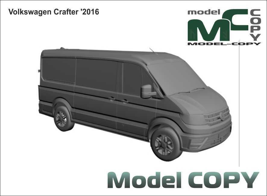 Volkswagen Crafter '2016 - 3D Model