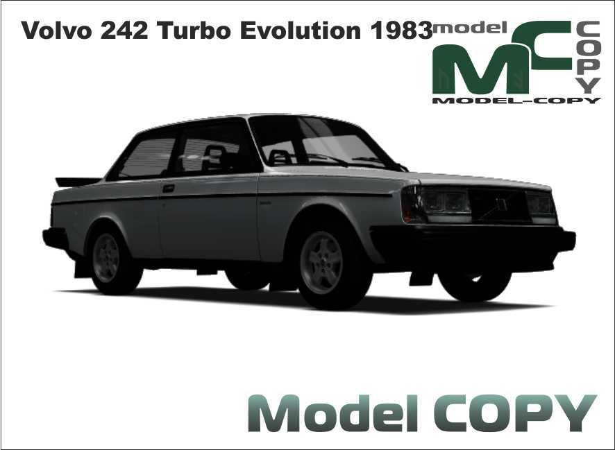 Volvo 242 Turbo Evolution 1983 3d Malli