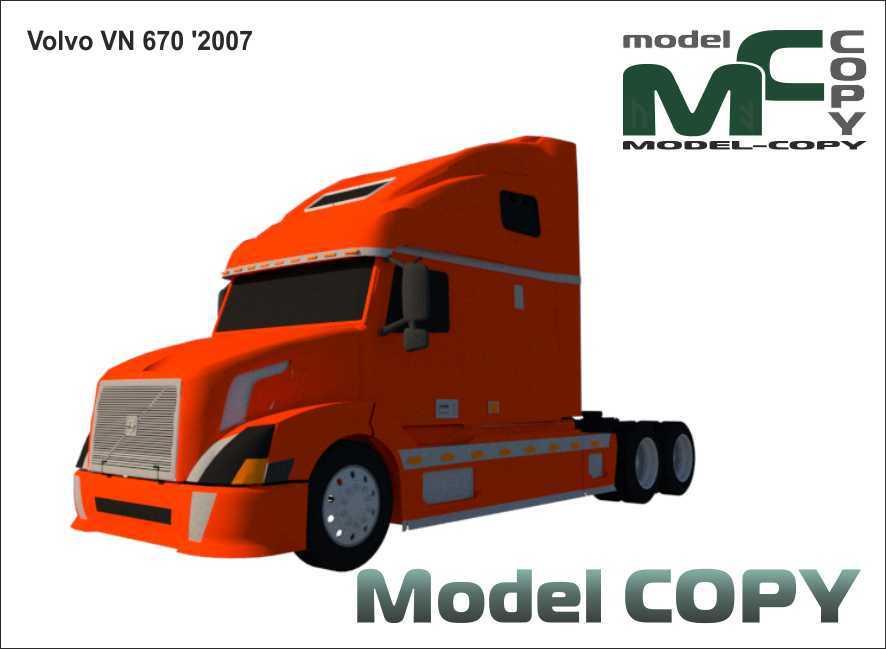 Volvo VN 670 '2007 - 3D Model