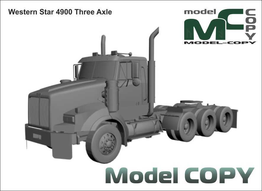 Western Star 4900 Three Axle - 3D Model