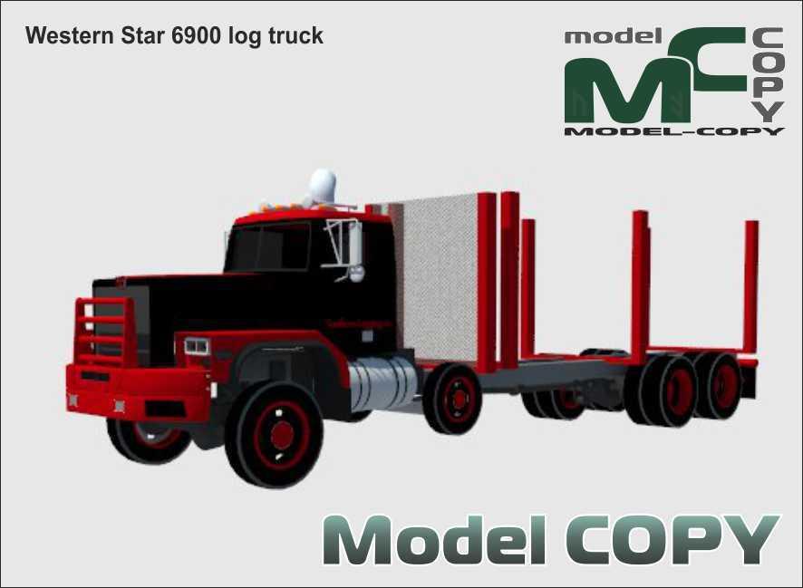 Western Star 6900 log truck - 3D Model