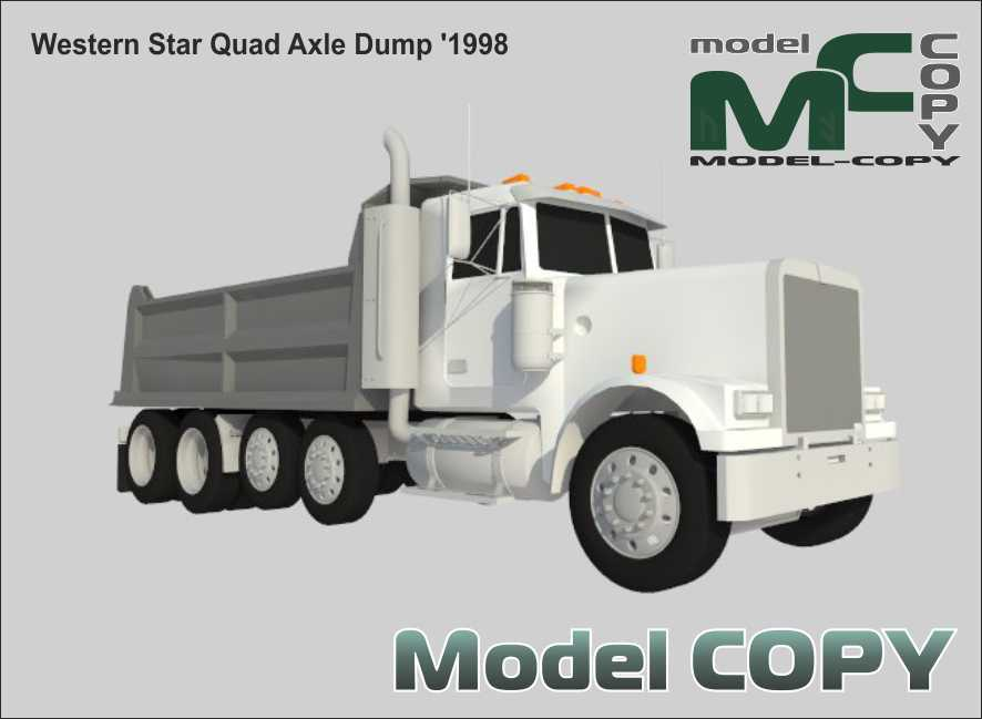 Western Star Quad Axle Dump '1998 - 3D Model