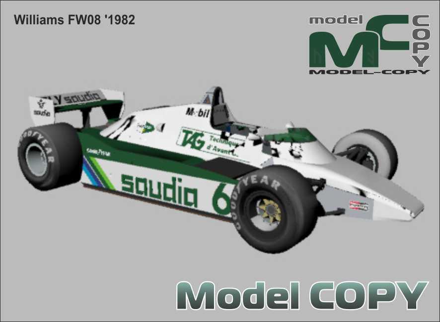 Williams FW08 '1982 - 3D Model