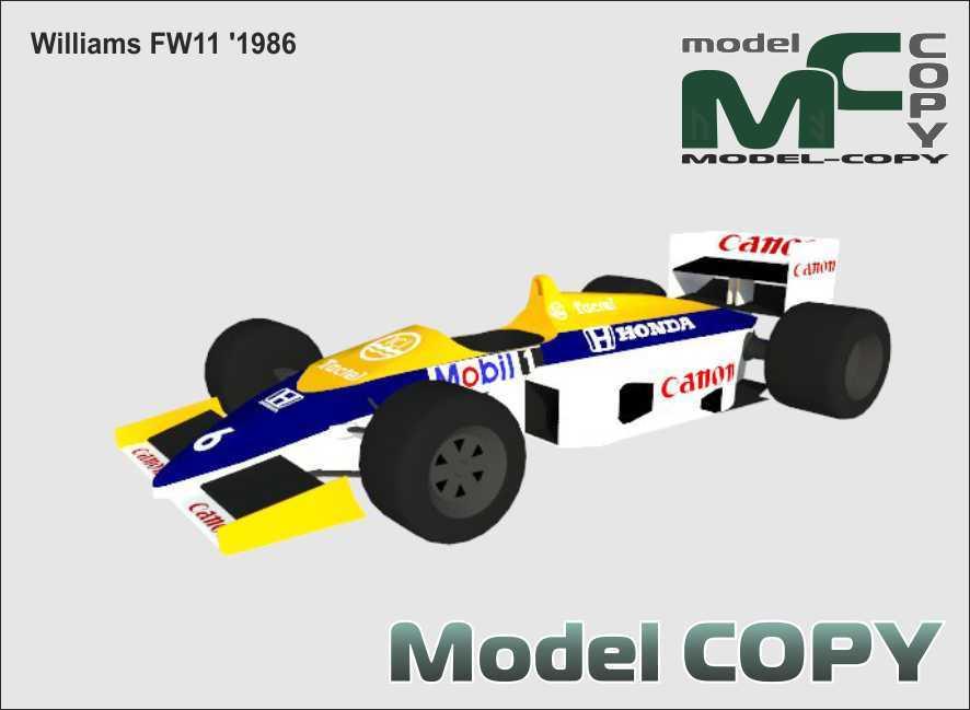Williams FW11 '1986 - 3D Model