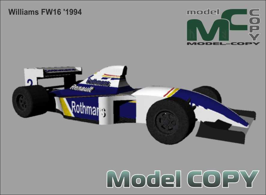 Williams FW16 '1994 - 3D Model