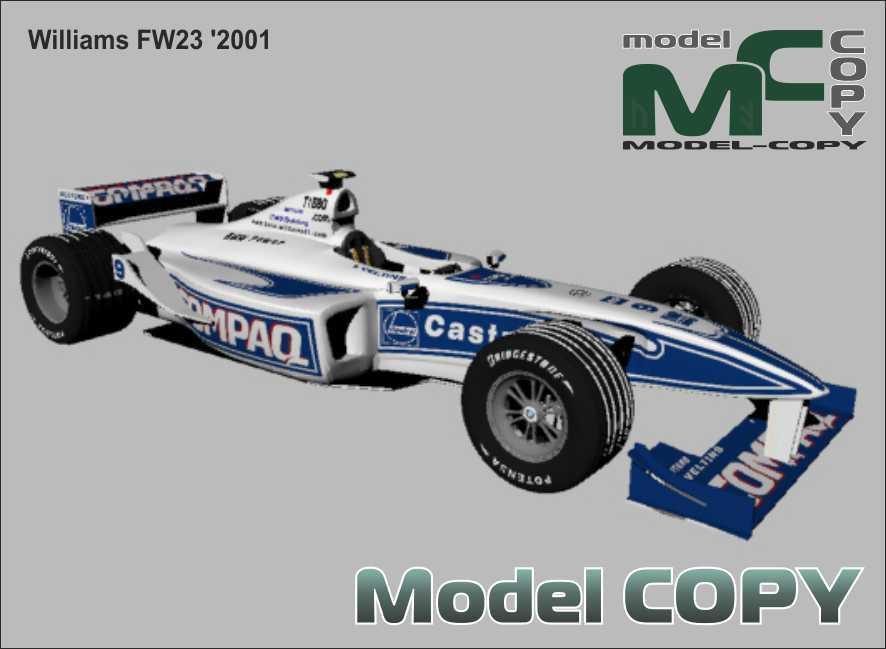 Williams FW23 '2001 - 3D Model