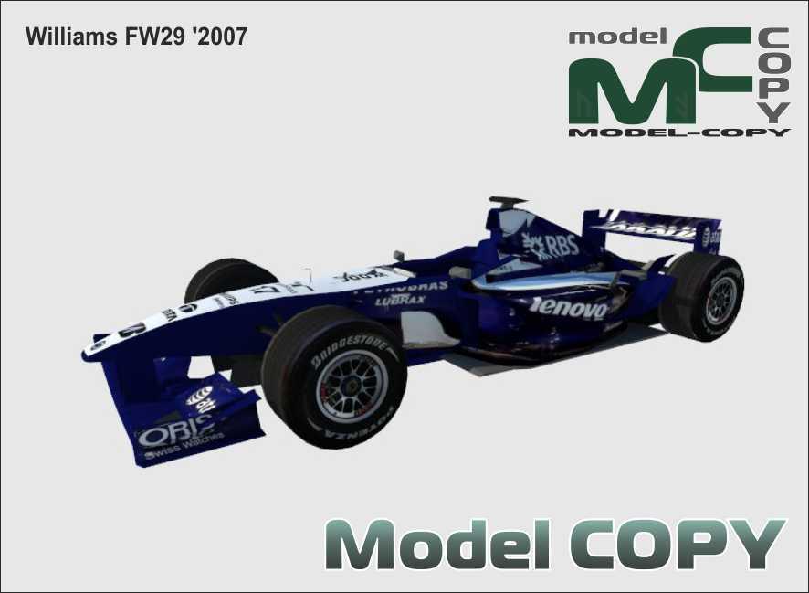 Williams FW29 '2007 - 3D Model