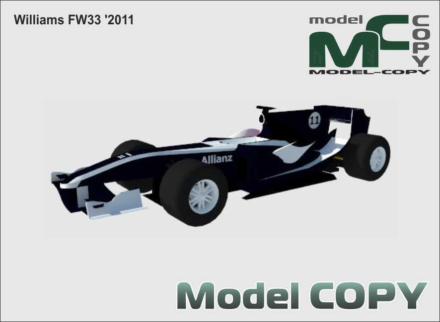 Williams FW33 '2011 - 3D Model