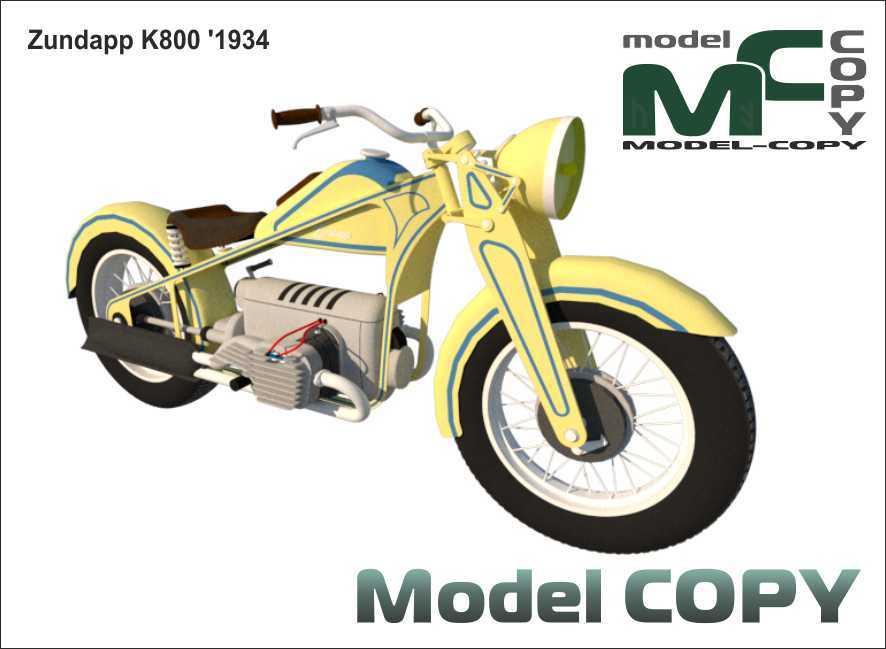 Zundapp K800 '1934 - 3D Model