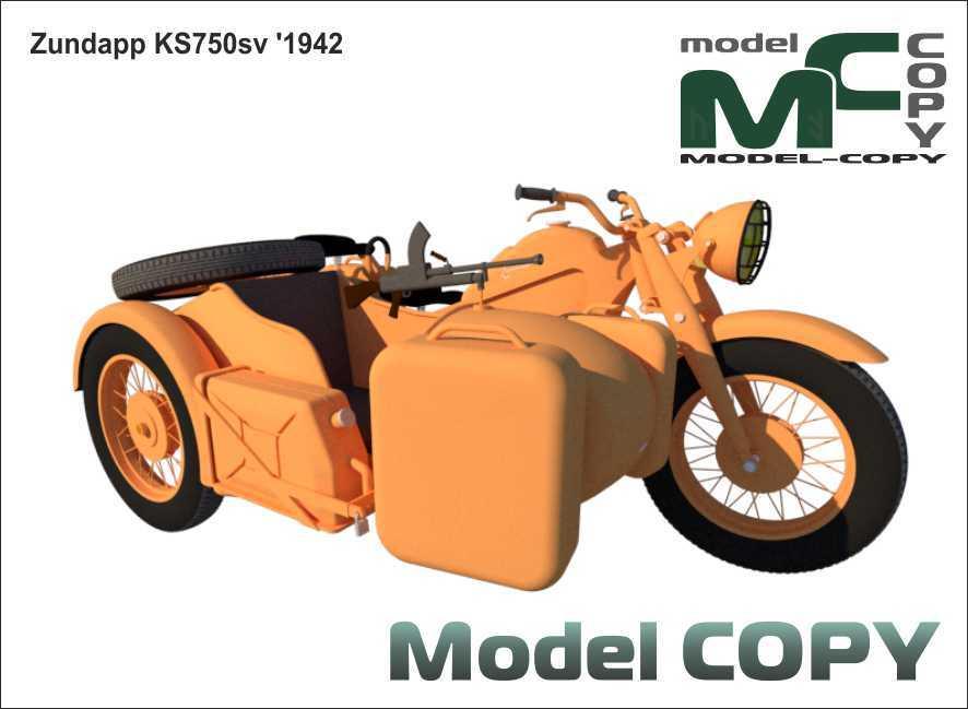 Zundapp KS750 sv '1942 - 3D Model