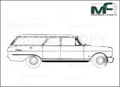 Acadian Canso Station Wagon 1966 Dessin 2d 23928