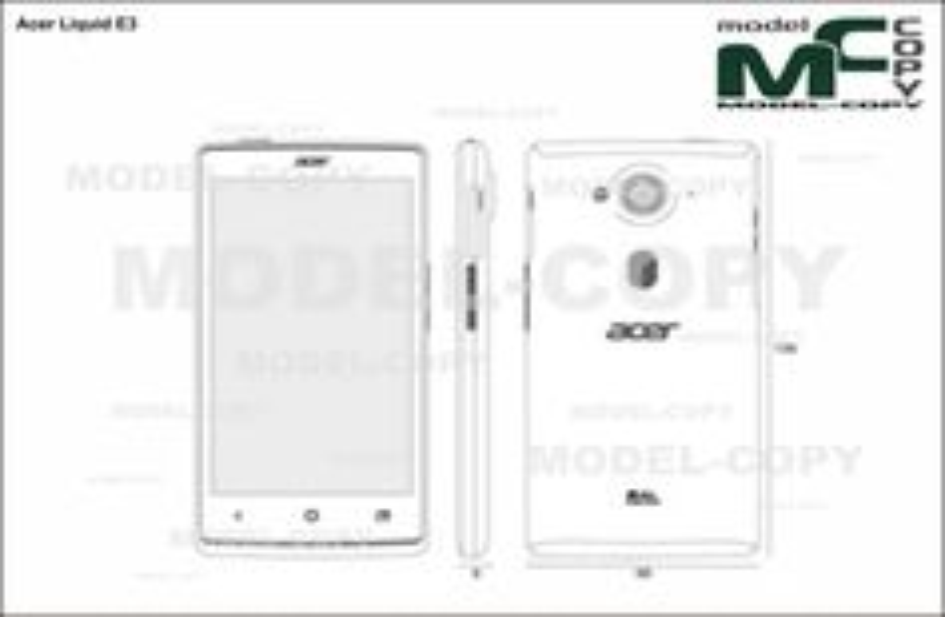 Acer Liquid E3 - drawing
