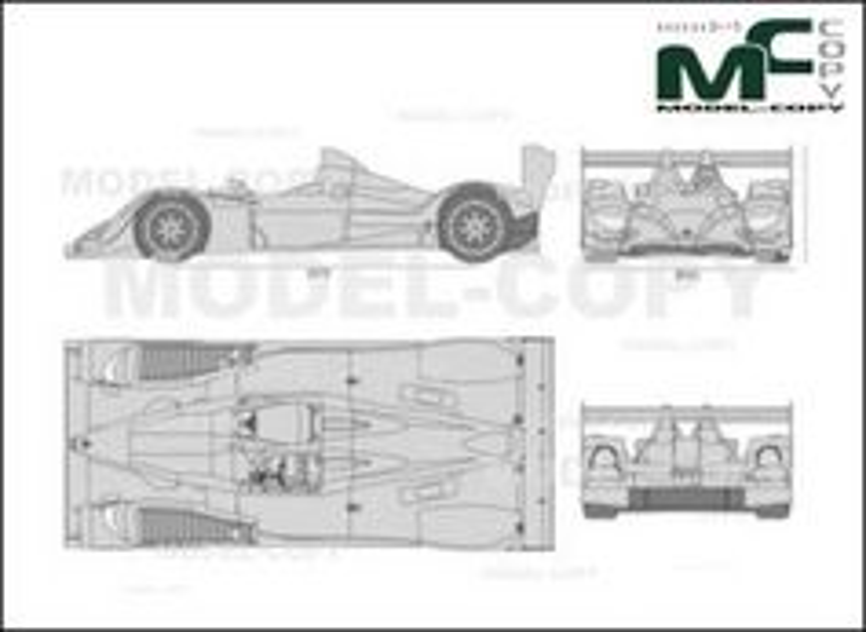 Acura ARX01b '2008 - drawing
