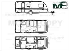 Adria Altea 542 PK '2013 - 2D drawing (blueprints)