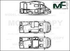 Adria MATRIX AXESS M 590 SG '2013 - drawing
