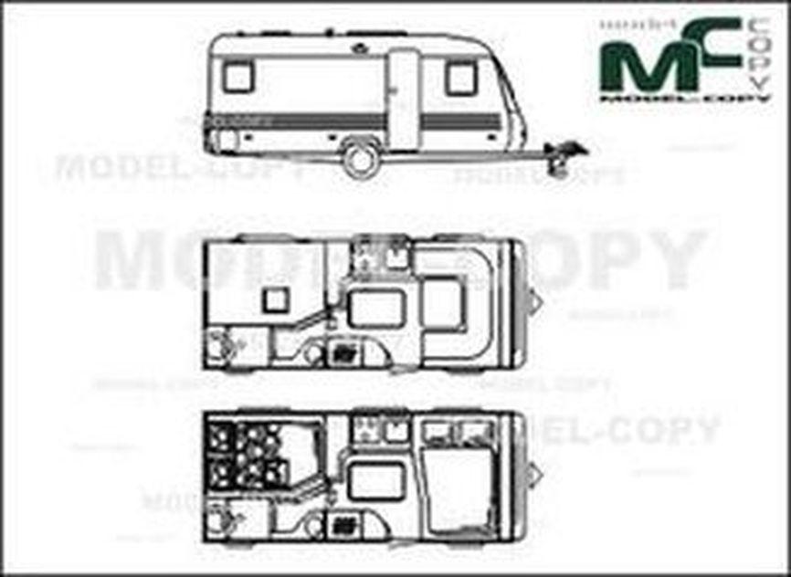 Adria Altea 512 UP '2007 - 2D drawing (blueprints)