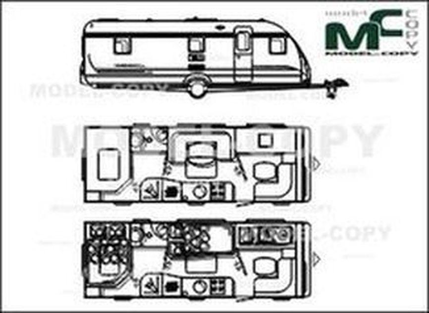 Højmoderne Adria Classica 663 KP '2010 - ritning - 33532 - Model COPY - LB-39
