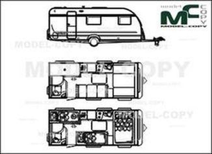 Adria Altea 542 DT '2010 - 2D drawing (blueprints)