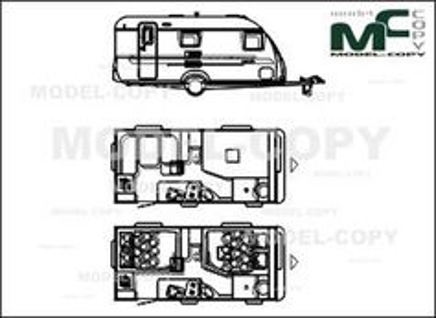 Adria Adora 462 PS '2011 - 2D drawing (blueprints)