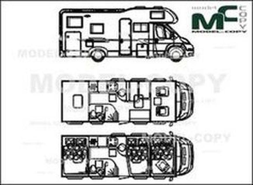 Adria Sport A 660 SP '2012 - drawing