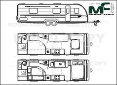 Adria Alpina 743 UX '2015 - 2D drawing (blueprints)