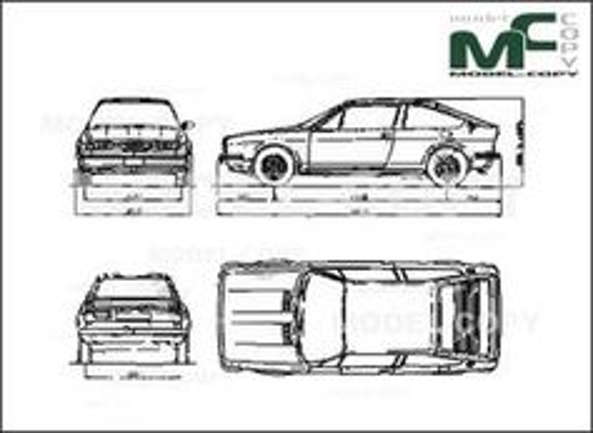 Alfa Romeo AlfaSud Sprint - drawing