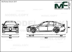 alfa romeo giulia  u20182017 - drawing - 39256