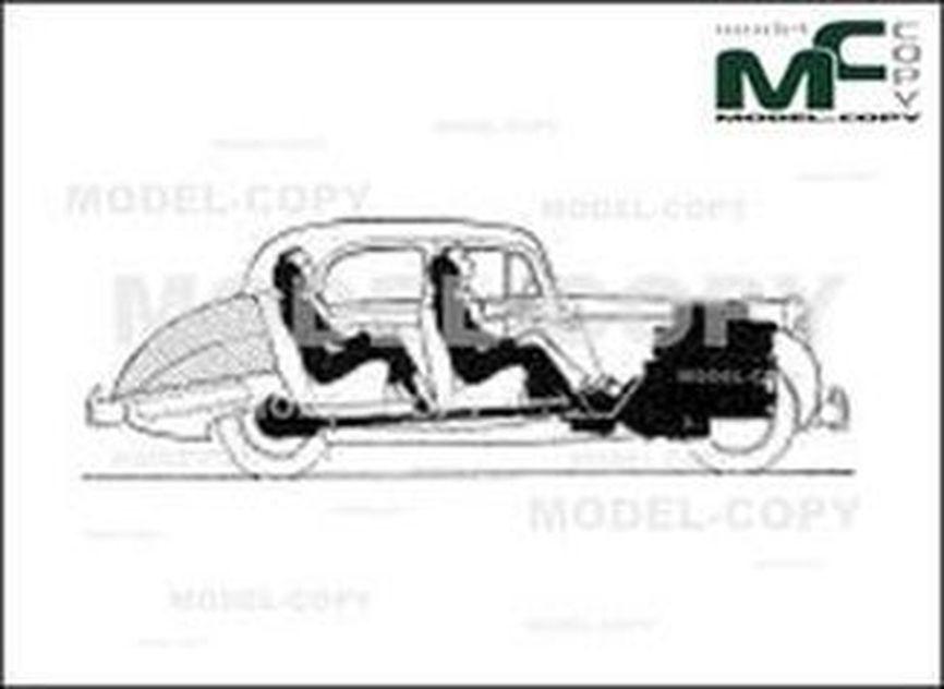 Alvis TC 21/100 «Grey Lady» 3-litre Sedan '1954 - 2D drawing (blueprints)