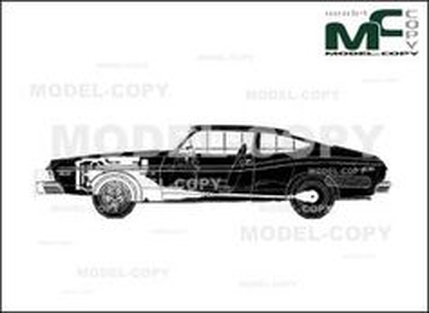 AMC Matador X (1974) - 2D drawing (blueprints)