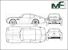 Aston Martin DB4 Zagato - drawing