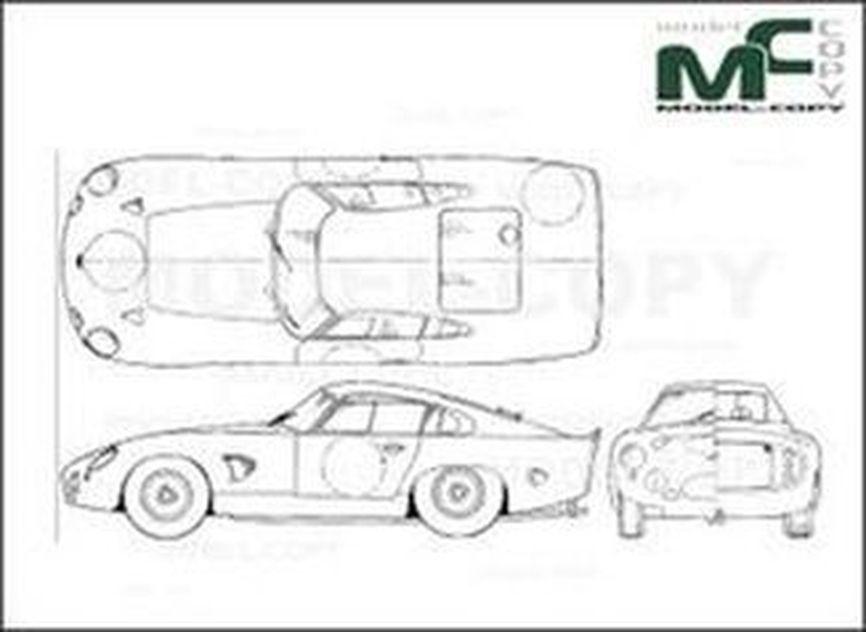 Aston Martin Type 215 Zagato - drawing