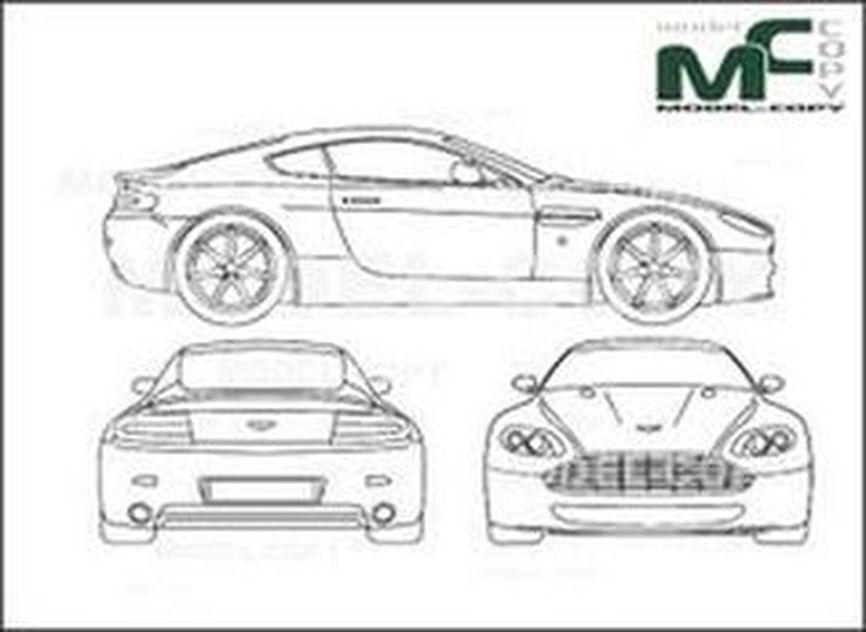 Aston Martin V8 Vantage (2005) - drawing