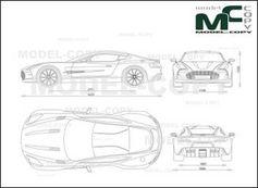 Aston Martin One 77 2011 2d Drawing Blueprints 24054 Model Copy English