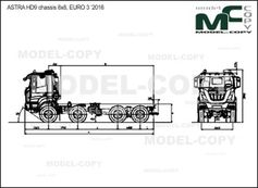 ASTRA HD9 chassis 8x8, EURO 3 '2016 - drawing