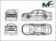 Audi RS6 2002 - 2D drawing (blueprints)