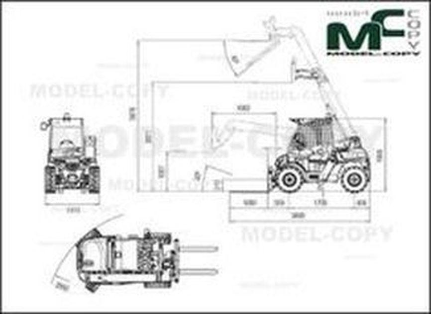 Ausa T144H - 2D drawing (blueprints)