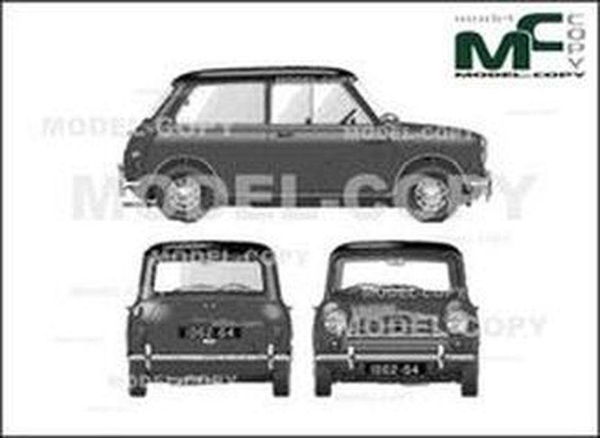 Austin Mini Cooper 997cc Wagon 1962 Dessin 24665 Model Copy