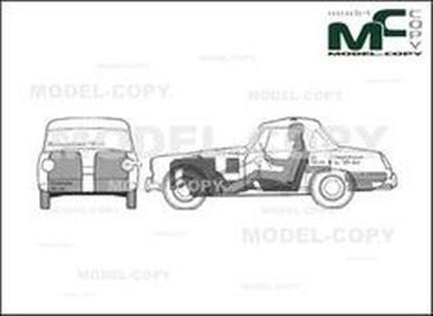 Austin Healey Sprite Mk IV Cabriolet '1967 - drawing