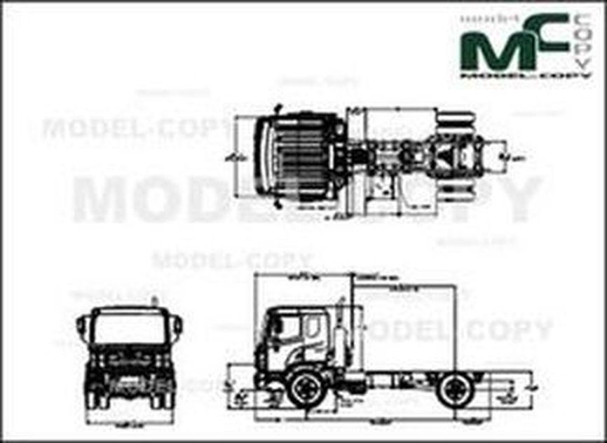 Autocar ACMD - XPERT CLASS 8 - drawing