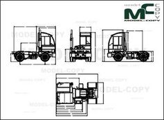 Autocar ACTT - XSPOTTER 4x2 LNG/CNG - drawing