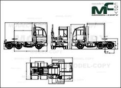 Autocar ACTT - XSPOTTER 6x4 OFF ROAD - drawing