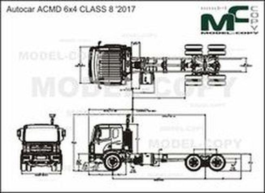 Autocar ACMD 6x4 CLASS 8 '2017 - drawing