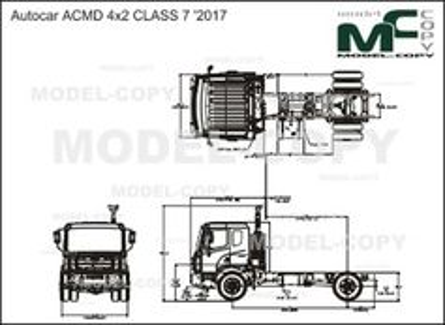 Autocar ACMD 4x2 CLASS 7 '2017 - drawing