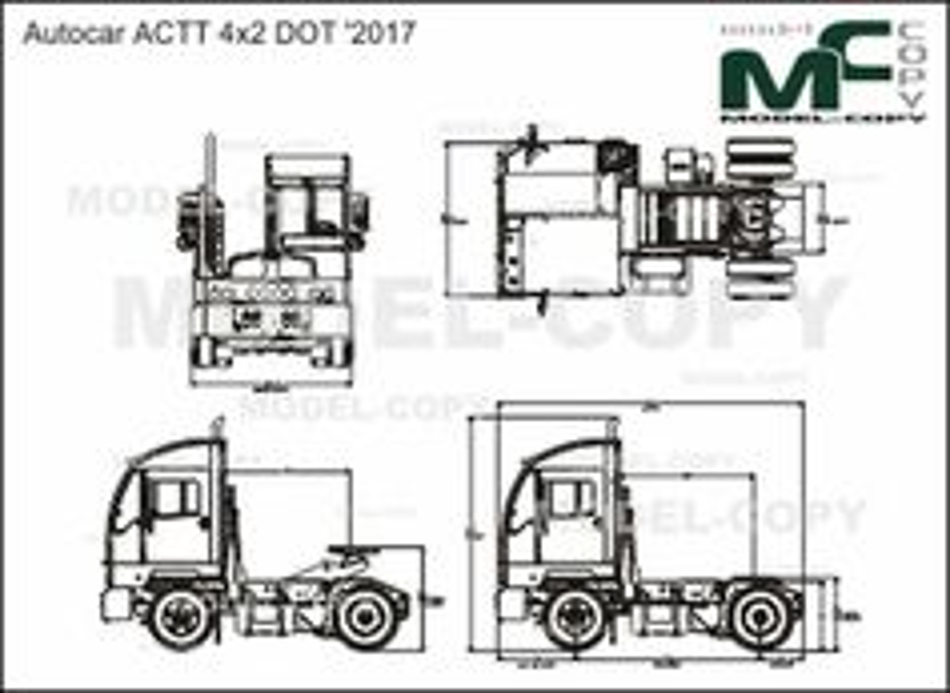 Autocar ACTT 4x2 DOT '2017 - drawing