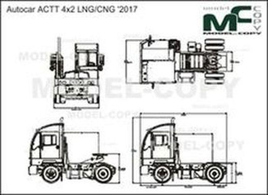 Autocar ACTT 4x2 LNG/CNG '2017 - drawing