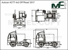 Autocar ACTT 4x2 OFFRoad '2017 - drawing